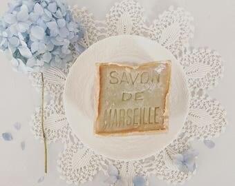 Vintage soap dish Savon De Marsaille 400g gift set spode plate dish fine china