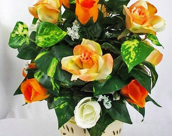 Small Flower Arrangements, Small Floral Arrangements, Small Silk Flowers,  Small Artificial Flower,