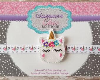 Unicorn Headband, Infant Headband, Newborn Headband, Toddler Headband, Pink Unicorn Headband, Unicorn Headband