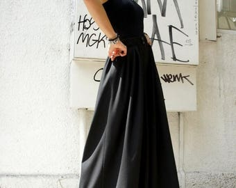 SALE Loose  Black Pants / Wide Leg Pants Spring / Summer  Collection A05045