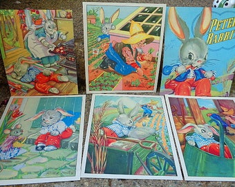 Vintage Peter Rabbit Litho Prints From Book Ruth Newton