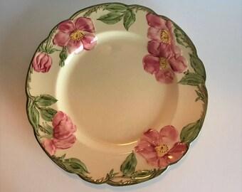 Franciscan Desert Rose Dinner Plates 1950s 1960s Set of Six