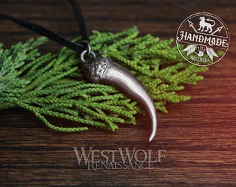 Viking Wolf Claw Pendant -- Norse/Direwolf/Dragon/Bear/Talon/Fang/Tooth/Canine