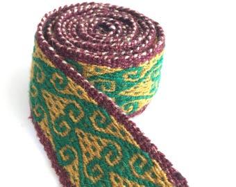 Handmade Ethnic strip trims roll belt loom Cuzco Peru Peru 10CT