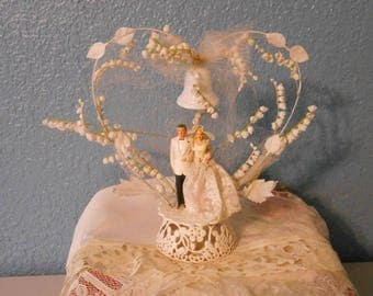 Vintage wedding cake topper, Vintage wedding supplies, Cake decorations, Kitschy cake topper, Vintage bride and groom, Retro weddings