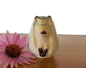 Lomonosov Hedgehog Russia USSR Porcelain Ceramic Woodland Figurine Hand Painted
