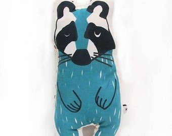 Mini cushion Raccoon
