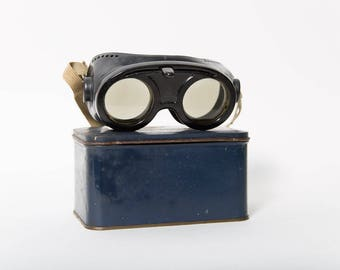 WWII Polaroid Variable Density Goggles American Optical Original Tin 1940s Military Steampunk Cosplay