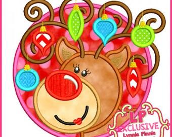 Reindeer with Ornaments applique - Christmas Custom Tee Shirt - Customizable 1