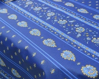 Rectangular Tablecloth. French Provence. Oilcloth. Stain resistant and water proof. Paisleys in blue