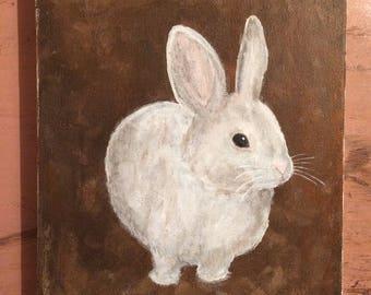 """White Rabbit. 7""""x9"""""""