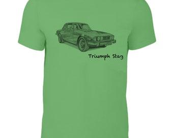 Triumph Stag classic car t-shirt