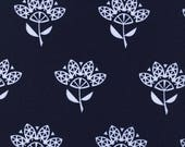 Cotton Steel Fabric, White Cornflower, Navy Fabric, Modern Quilt Fabric, Fabric By The Yard, Fat Quarter, 1 Yard Fabric, Robert Kaufman