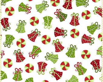 Christmas Fabric By The Yard - Red and Green Christmas Presents -  Choose White Or Black Background - Fabric By The Yard - Fat Quarter