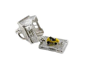 Sterling Silver Opening Garage Charm For Bracelets