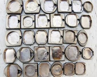 Vintage Watch Back Lids - set of 30 - c191