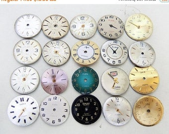 ON SALE Small Watch Faces - set of 20 - c122