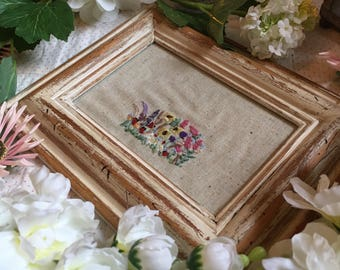 Hand Embroidered floral meadow