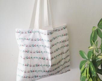 Large Fully Lined Cotton Tote/Shopping/Travel Bag