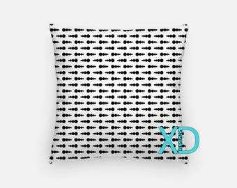 Polka Dot Pillow, Dot Mix Pillow Cover, Mixed Pillow Case, Black and White Pillow, Artistic Design, Home Decor, Decorative Pillow Case, Sham