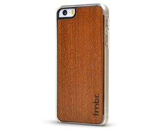 Wood iPhone SE Case, iPhone SE Wood Case, iPhone SE Phone Case Cover Rosewood