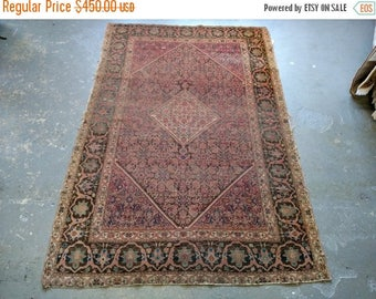 SUMMER CLEARANCE Persian Rug - 1900s Hand-Knotted Ferahan Sarouk Persian Rug (3515)