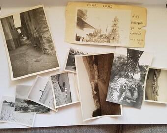 Vintage Photo Pack of Mixed scenery 10 photos (G), UK United Kingdom scenery, ephemera junk journals scrapbooks smashbook, sepia