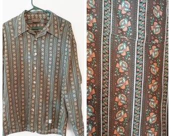 Vintage Button down shirt size XL Mens floral