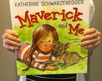 Get a signed copy by the illustrator of children's picture book, Maverick and Me written by Katherine Schwarzenegger