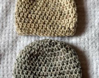 2 Pack newborn crochet hat