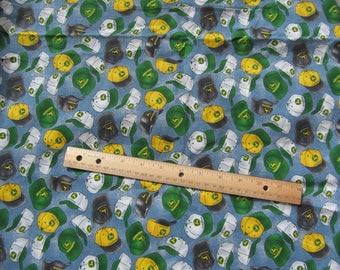 Blue John Deere Caps Toss Cotton Fabric by the Yard