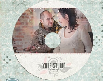 ON SALE NOW Cd/Dvd Label Template, Valentine Label, Instant Download