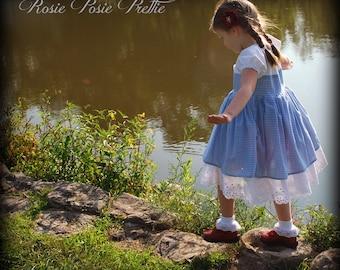 Dorothy Wizard of Oz Dress, Dorothy Dress, Dorothy Peasant Dress, Dorothy Costume, Wizard of Oz, Wizard of Oz Costume, Girls Dress up Dress