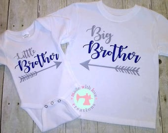 Big Brother/Little Brother Shirts-Big Brother Shirt-Little Brother Shirt-Matching Brother Shirts-Personalized Shirts-Custom Brother Shirts