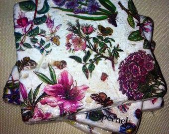 Portmeirion Botanicals - Handmade Coasters Set of 4