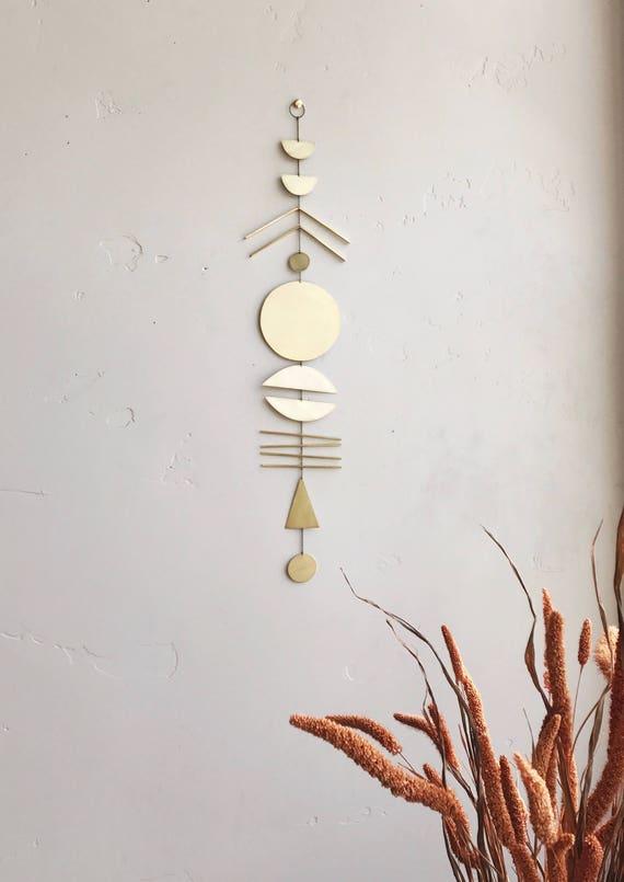 """Brass Wall Hanging - """"arine"""" - made-to-order - 1 week turnaround time"""
