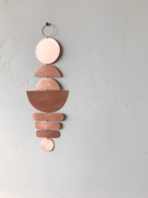 Copper wall piece - ready to ship