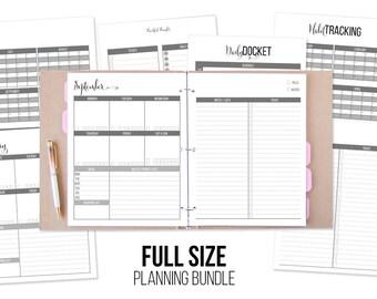 Vanilla Planning Bundle - Full Size - Vanilla Edition