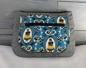 Halloween Themed Girl in Fox Mask Ophelia Blue Orchid Waist/Sling Bag Fanny Pack