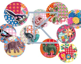 160 images digital way patchwork print