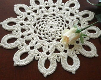 Placemat Crochet Table linens Crochet Doilies Tablecloth Crochet Doily Round Cotton Table  Home Decor Placemats