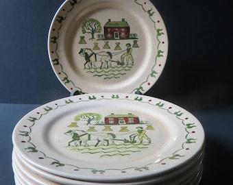 Poppytrail Metlox Homestead Provincial Dinner Plates