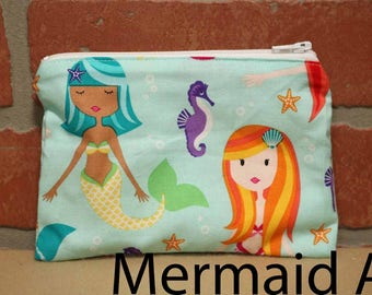 One Snack Sack, Mermaid, Reusable Lunch Bags, Waste-Free Lunch, Machine Washable, Back to School, School Lunch, item #SS56