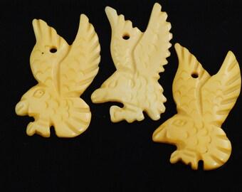 Eagle Pendant-Bone Eagle Bead-Bone Eagle Pendant-Eagle Necklace-Eagle Focal Bead-Eagle Centerpiece-Carved Eagle Bead