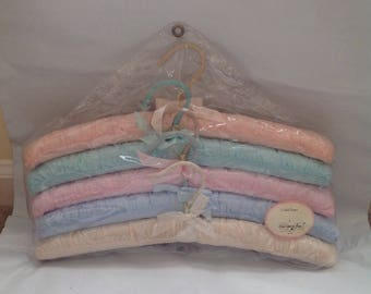 Vintage Five Padded Hangers by Once Upon A Rose
