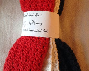 Patriotic Red, White and blue washcloths