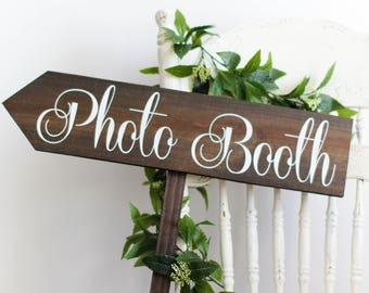 Photo Booth Directional Sign-Arrow Pointing Left | Close Out Sale