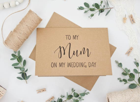 'To my Mum on my Wedding Day' Card