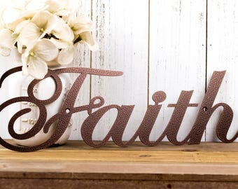 Faith Metal Sign | Religious Decor | Metal Wall Art | Spritual Decor | Religious  Wall