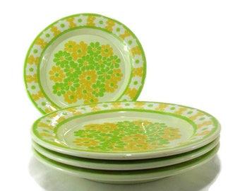 Vintage Franciscan Earthenware  'Picnic' Dinner Plates * Set of 4